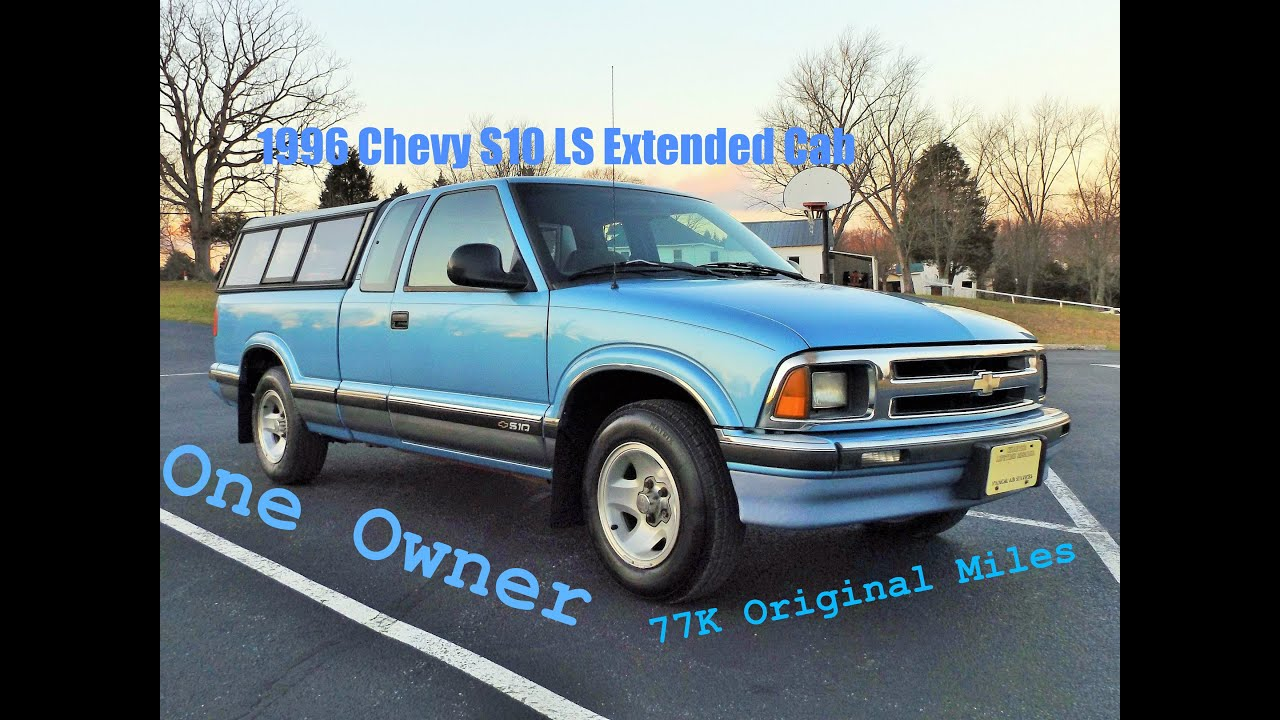 one owner 1996 chevy s10 ls extended cab start up review and full rh youtube com 1993 Chevy S10 1996 chevrolet s10 owners manual
