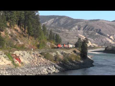 CN Rail -- CN5735 on a Grain Unit Train west of Spences Bridge
