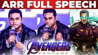 "AR Rahman Full Speech At ""Avengers End Game"" Trailer & Anthem Launch"
