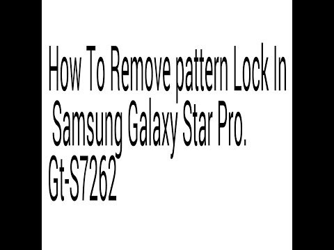 how to remove or unlock pattern lock in samsung galaxy