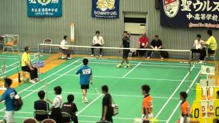 All Japan Junior Highschool Badminton Tournament, Boys Singles Final