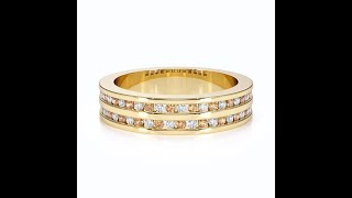 AGnSons YGold Citrine Eternity Ring RZ1503