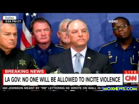 Baton Rouge Police Press Conference On Arresting Police Brutality Protesters!