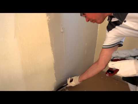 Подготовка стен с неровностями