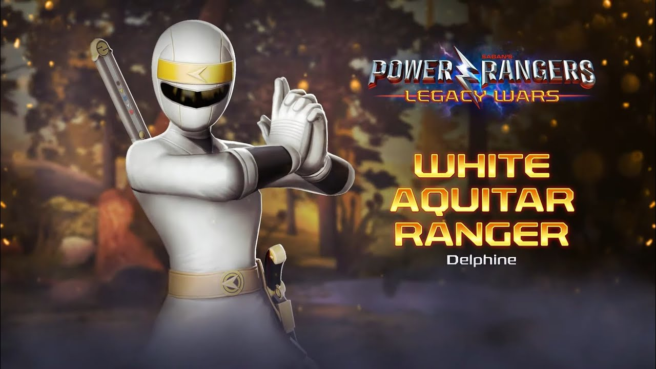 Power Rangers: Legacy Wars - White Aquitar Ranger/White Alien Ranger Delphine amazing performances