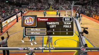 NBA 2K8 PS3 90's West Legends vs 80's East Legends video game