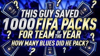 THIS GUY SAVED 1,000 PACKS FOR TEAM OF THE YEAR...