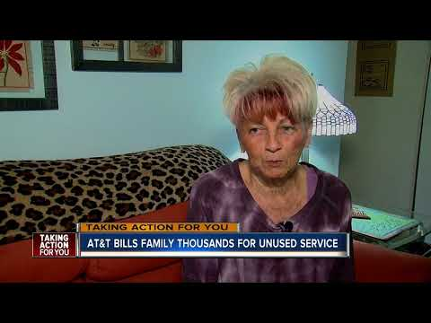 AT&T bills Florida family thousands for unused service