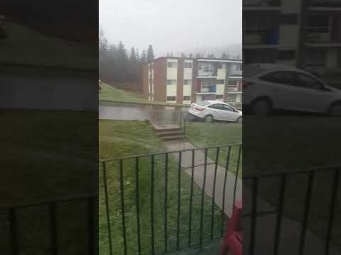 Premiere neige a gaspe