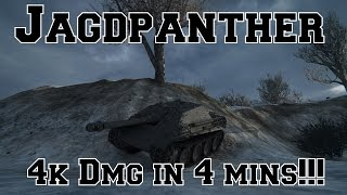 World of Tanks: Jagdpanther: 4k Damage in 4 Minutes!!! (Ace Tanker)