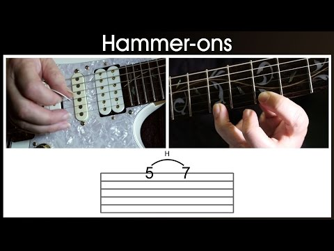 How to hammer-on  on the guitar  (hammering on)