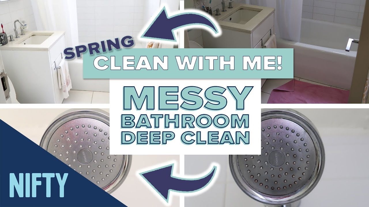 CLEAN WITH ME: Bathroom Spring Cleaning