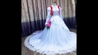 FM-Anime.com Cardcaptor Sakura Sakura Kinomoto Wedding Dress Cosplay Costume