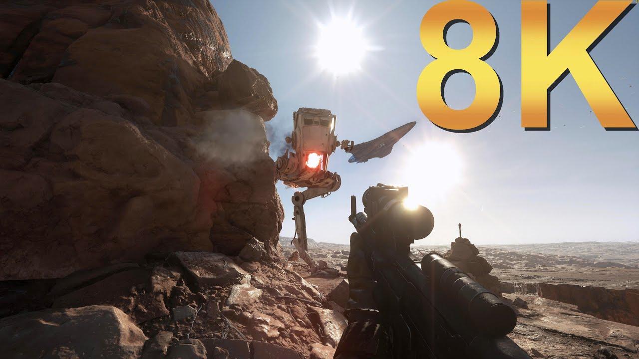 star wars battlefront 8k ultra settings gameplay high resolution pc