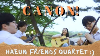 Haeun's friends play Loose Canon on classical guitar!