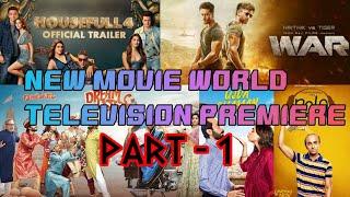 Movie World TV Premiere   Hindi Movie TV Rights   Zee Cinema   Sony Max part - 1 (Bollywood spoiler)