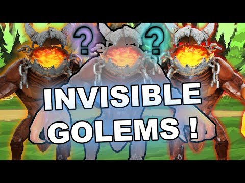 Dota 2 Tricks: INVISIBLE Warlock's Golems, Familiars and Primal Split!