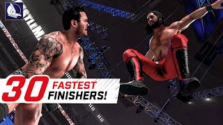 WWE 2K19 Top 30 Fastest Finishers (Reversals!)
