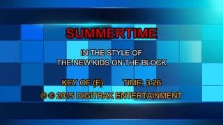 New Kids On The Block - Summertime (Backing Track)