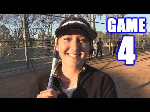 SLATER HOMERS IN HER FIRST GAME EVER! | On-Season Softball Series | Game 4