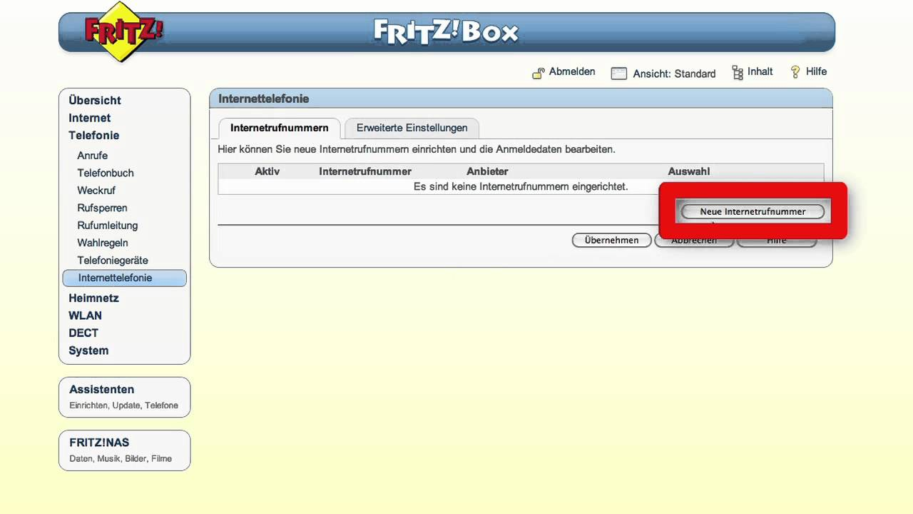 FRITZ!Box Internettelefonie <b>einrichten</b> - YouTube