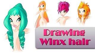 Drawing Winx hair Part 2