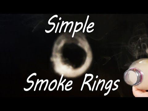 How to make smoke rings with a simple DIY vortex cannon
