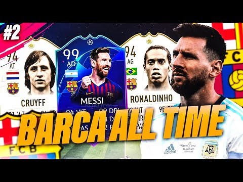 FIFA 19 - LA MEILLEURE TEAM DE BARCELONE ALL TIME !! SE QUEDA !!!