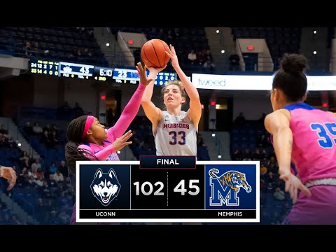 UConn Women's Basketball Highlights v. Memphis 02/20/2019