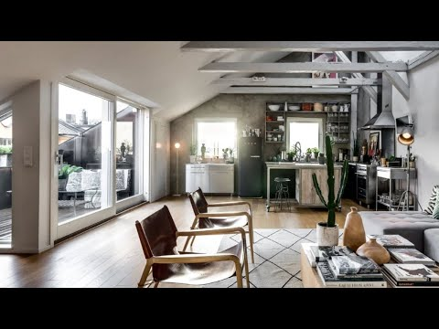 Tour Scandinavian Loft With Industrial Elements, Stockholm 🍍