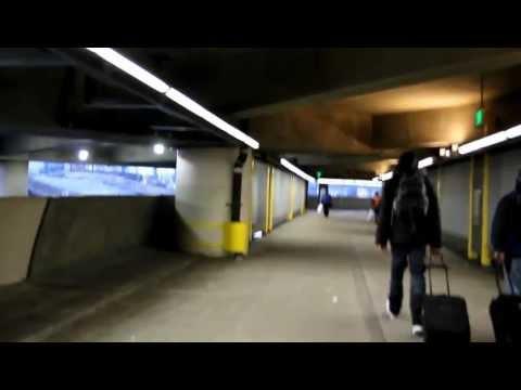 Walking in SeaTac Airport to Sound Transit