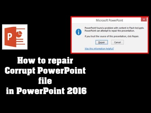 How to repair corrupt PowerPoint files PowerPoint 2016