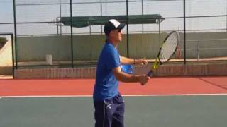 Tennis volley video, with salsa