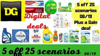 Dollar General $5 off $25 Scenarios all digital deals | Plus a gain deal