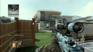 "QUICK SCOPE ""1v3 RAGE"" Black ops 2 Nuke Town Ballista Spawn killing"
