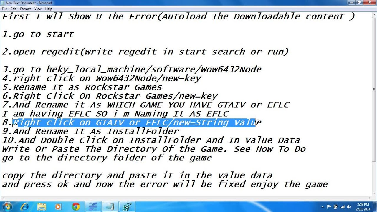 How to fix the downloadable content required for this autoload is.
