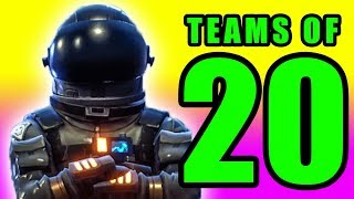 Trapped Under the Ground! 🔥 Fortnite Battle Royale 20v20 PC Gameplay
