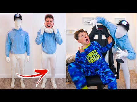 *EXTREME* Mannequin SCARE Prank on my LITTLE BROTHER!! (funny)
