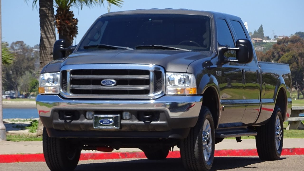 Ford F250 8 Foot Bed For Sale >> 2002 FORD F250 LARIAT 7.3L DIESEL 4X4 CREW CAB LONG BED