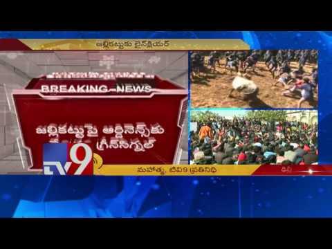 Jallikattu ordinance cleared by law minister, sent to President Mukherjee - TV9