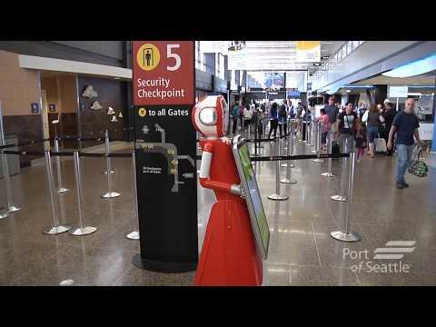 Customer Service Robot at Sea-Tac Airport