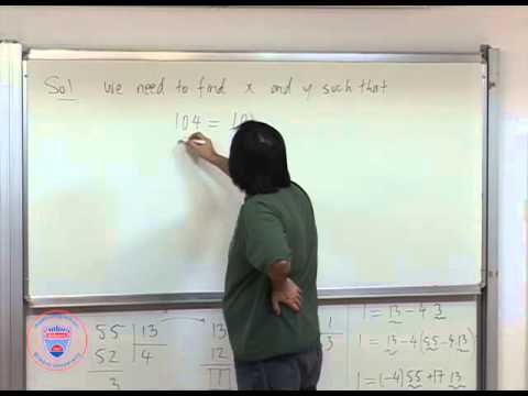 MATH 110   Lec 07   Greatest common divisors and linear combination of integers