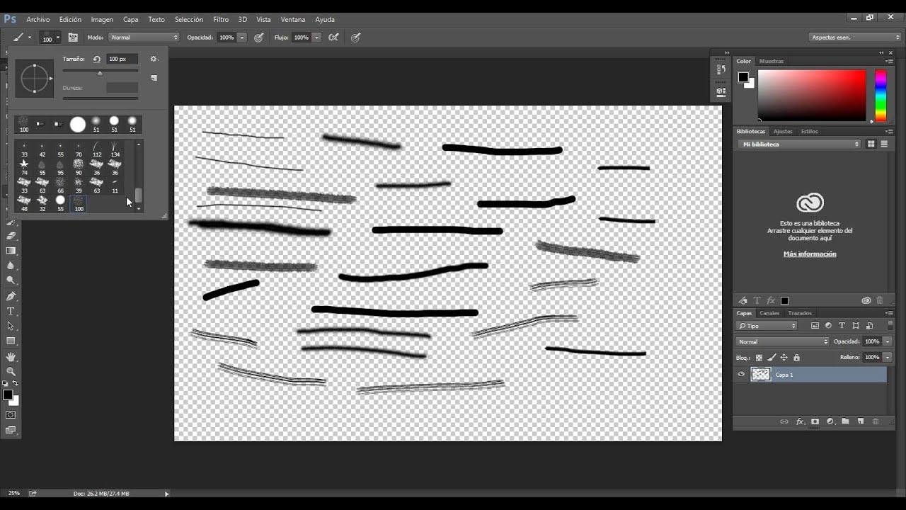 Herramienta pincel y lapiz curso photoshop cc video 19 - Herramientas de photoshop ...
