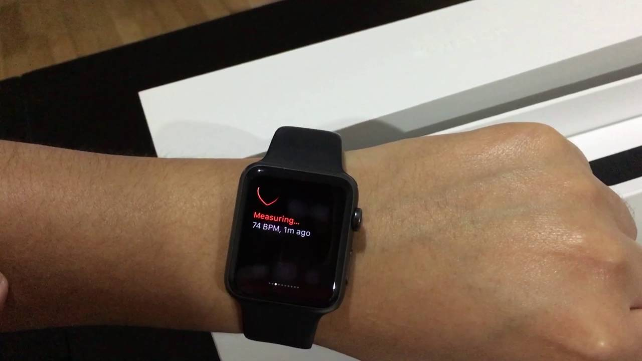 super popular 2cc9c 717bf Apple Watch 42mm. Space Gray Aluminum with Case Black Sport Band.