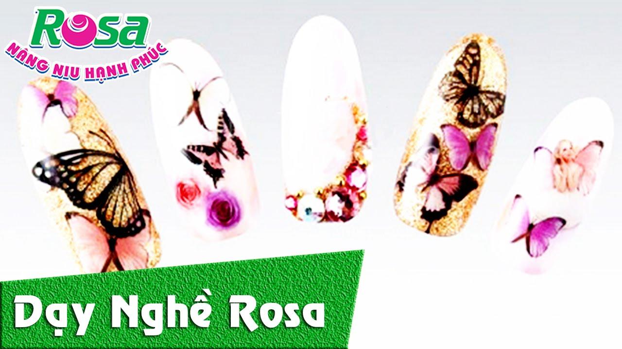 Nails Art – Vẽ móng tay bươm bướm