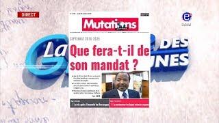 LA REVUE DES GRANDES UNES DU JEUDI 25 OCTOBRE 2018 - ÉQUINOXE TV