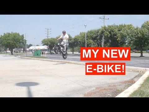 JUMPING MY NEW ELECTRIC BIKE! (Ariel Rider D class)