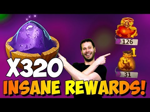 32 Zephyrica Bags 320 Magic Powder BIG BOY Rewards Castle Clash