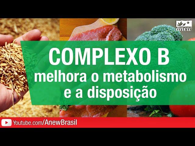 Complexo B Melhora o Metabolismo e a Disposição
