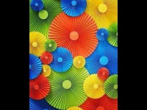 DIY Бумажный веер для декораций.Гирлянда.Оригами// DIY Paper fan for scenery. Garland. Origami